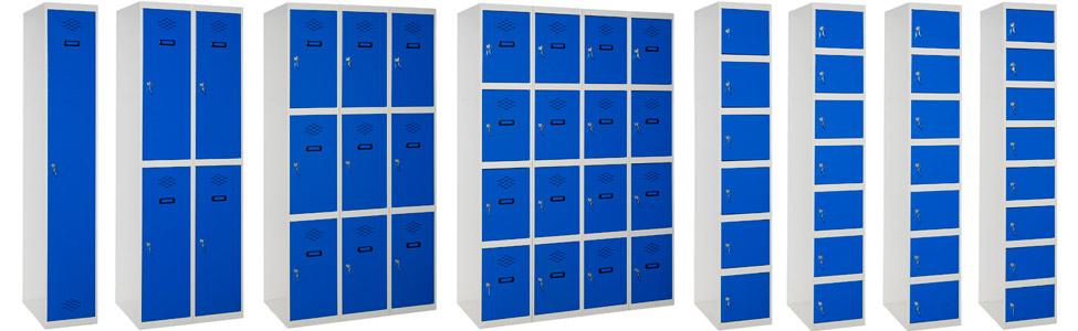 Vestuarios taquillas mobiliario puerta entera, doble puerta