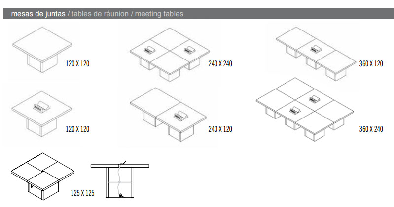 Modelo Mesas de Juntas