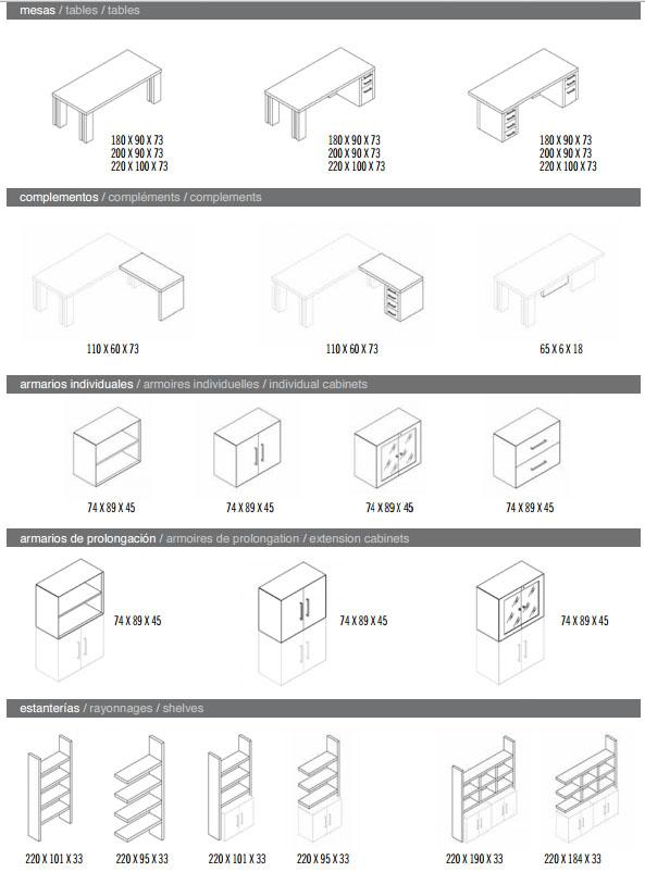 Modelos Mesas y Armarios
