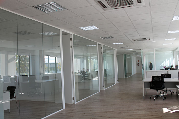 Mampara de separación Modelo ESFERA - Mobiliario de oficina